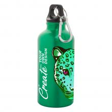 Sport fles met karabijnhaak| Aluminium | Full colour