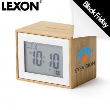Lexon wekker | Bamboe | LCD | BF