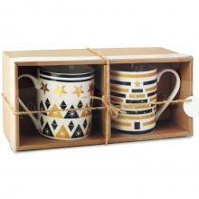 2 Mugs | Impression Noël | Céramique | 250 ml