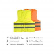 Veiligheidshesjes | Maat M XL en XXL | Oranje en geel | 8036541