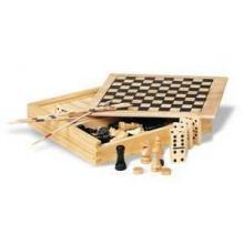 4 Spielesammlung in Holzbox
