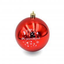Kunststof kerstbal | 80 mm | Glans | 22001 Rood