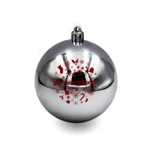 Kunststof kerstbal | 80 mm | Glans | 22001 Glanzend zilver