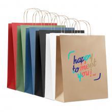 Papieren tas gerecycled | Large | Kleine oplage & Snel