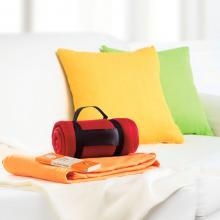 Fleece deken | Draagband met logo | 8797245