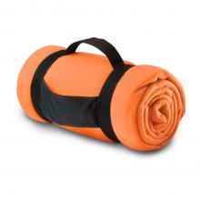 Fleece deken | Draagband met logo | 8797245 Oranje