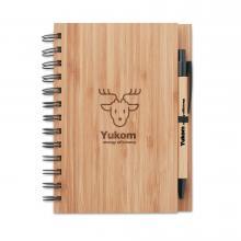 Ringband notitieboekje |  Bamboe | A5 | Met pen