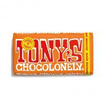 Tony's Chocolonely in bedrukte brievenbusdoos | Chocolade reep 180 gram  | max09 Melk karamel zeezout