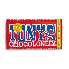Tony's Chocolonely in bedrukte brievenbusdoos | Chocolade reep 180 gram  | max09 Melk
