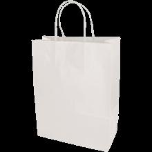 Papieren tas | A4 | Beste prijs | Gedraaid papieren handvat  | maxp017 Wit