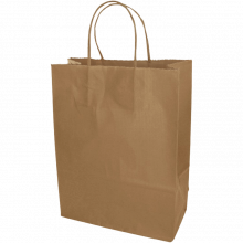 Papieren tas | Medium | All-over opdruk | 109KRF02 Bruin