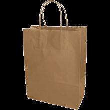 Papieren tas | Small | All-over opdruk | 109KRF01 Bruin
