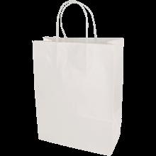 Papieren tas | Medium | All-over opdruk | 109KRF02 Wit