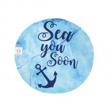 Rond badlaken | Sea you soon | 150 cm dia