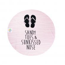 Rond badlaken | Sandy toes | 150 cm dia