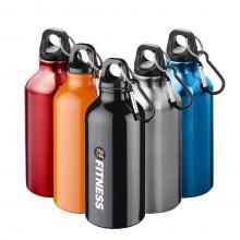 Drinkfles aluminium | Karabijnhaak | 400 ml
