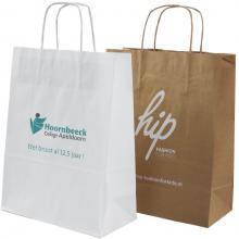Papieren tas | A4 | Beste prijs | Gedraaid papieren handvat  | maxp017