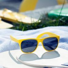 Gekleurde kinder zonnebril   Tot 2 kleuren opdruk   83791611