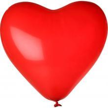 Ballon   Ø 28 cm   Hartvorm   14H80 Rood