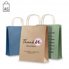 Gekleurde papieren tas | Gerecycled papier | A5 | Kleine oplage