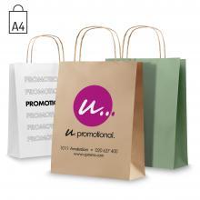 Gekleurde papieren tas | A4 | Gerecycled | Kleine oplage | max103