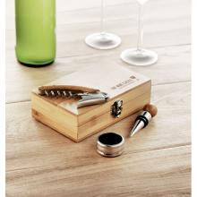 Wijnset | RVS | Verpakt in bamboe doosje