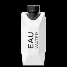 Kartonnen waterpakje | Tetra pack | 330 ml | 1 kleur bedrukt