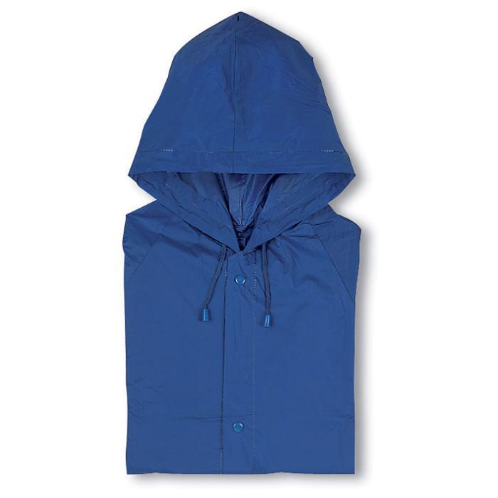 Regenjas | Gekleurd | Drukknoopsluiting | 8755101 Blauw