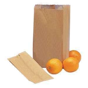 Papieren zak bruin 16x30x10 cm vanaf 100 stuks for Papieren zakken bedrukken