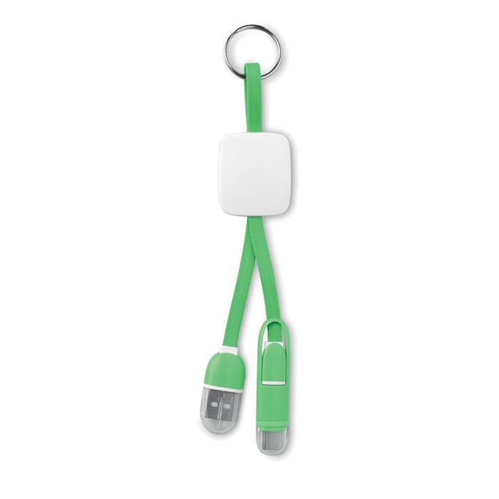 Sleutelhanger met USB en micro-USB   8798887 Lime