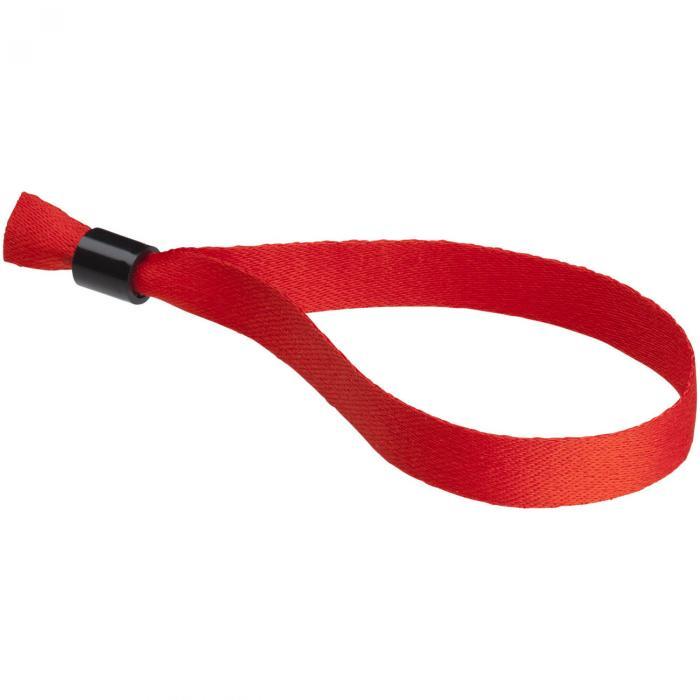 Polyester polsbandje | 170 x 15 mm | | Éénrichting veiligheidssluiting | 92102479 Rood