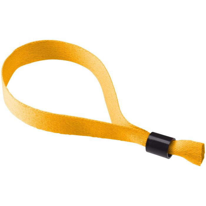 Polyester polsbandje | 170 x 15 mm | | Éénrichting veiligheidssluiting | 92102479 Oranje