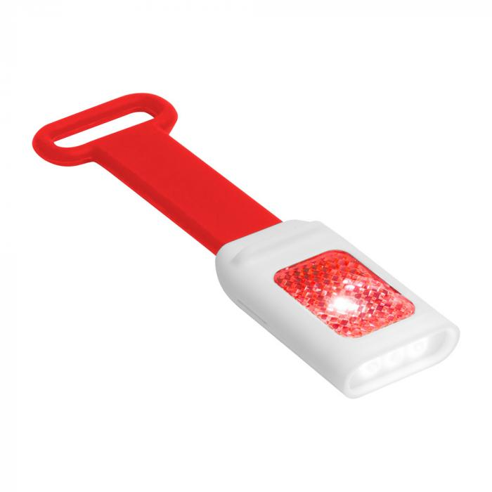Plastic zaklamp | Siliconen band | 83741600 Rood