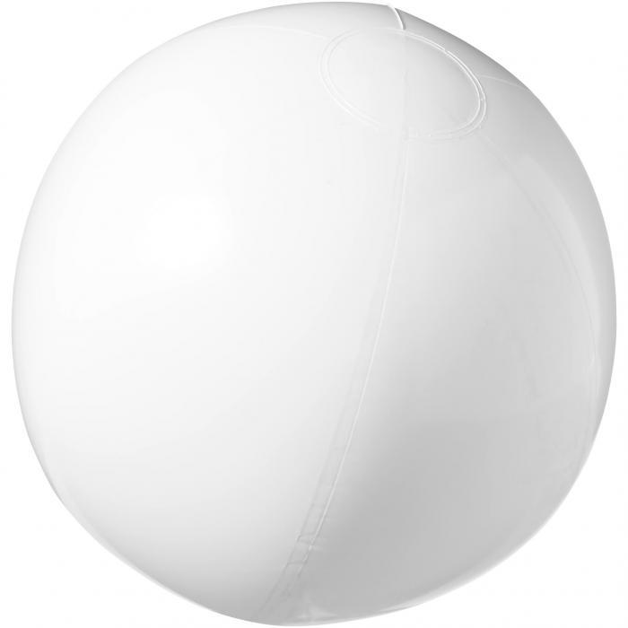 Strandbal | 25 cm | Vrolijke kleuren | 92100371 Wit