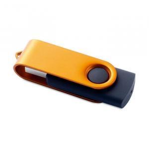 USB stick Rotodrive | Rubber/Metaal | 1-32 GB | NL8791101 Oranje