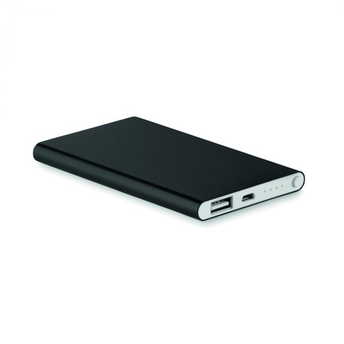 Powerbank | Snel| Full colour | 4000 mAh | max045 Zwart