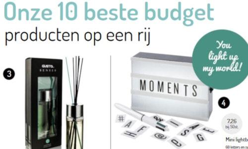 Kerst-/wintercatalogus: top 10 budget producten