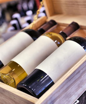 Wijnkisten 3 vaks