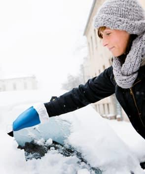 ijskrabber met handschoen bedrukken