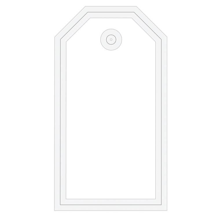 Voorzijde rechthoekig label